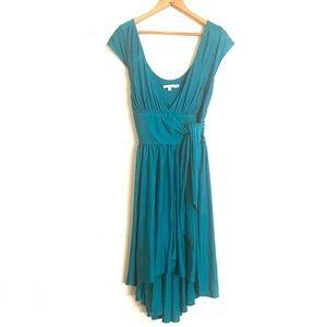 Calypso St Barth | Teal Jersey Silk Wrap Dress